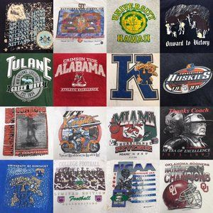 Lot of 20 Vintage 90s 00s College NCAA T Shirt